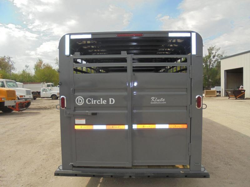 2019 Circle D 6-8X24 GN Livestock Trailer