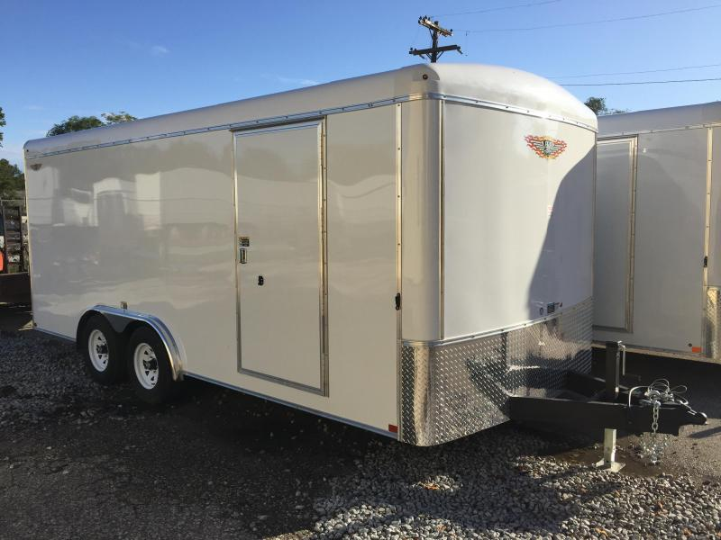 2020 H and H Trailer 8X18 TANDEM RND TOP HH RNDNOSE 10K CARGO