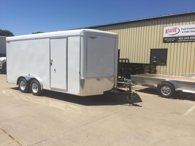 2020 H and H Trailer 8X16 TANDEM RND TOP HH VNOSE 7K CARGO