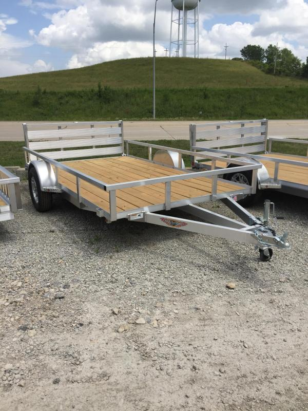 2019 H and H Trailer 8.5(82)X12 ALUM RAILSIDE 3K