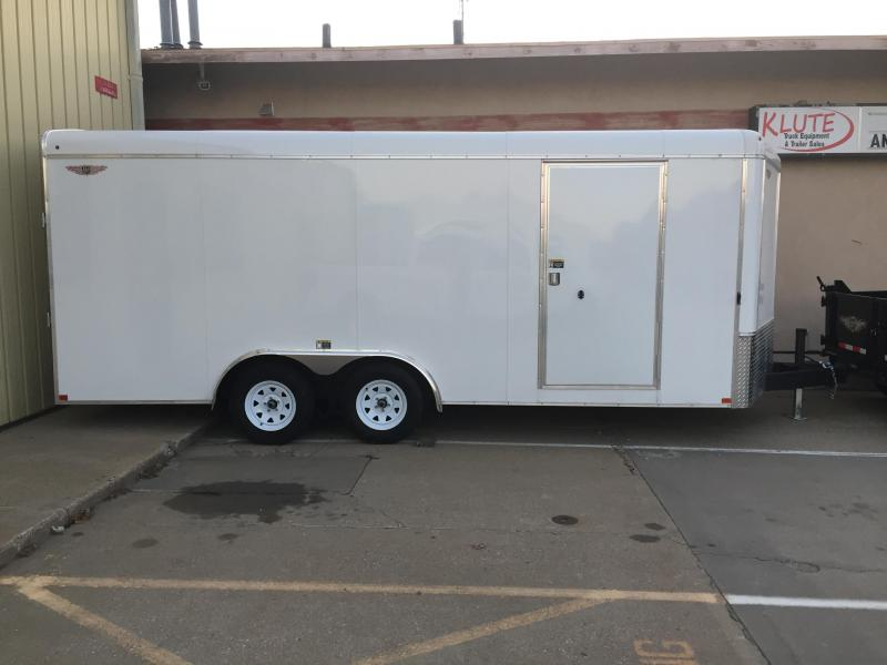 2020 H and H Trailer 8X18 TANDEM RND TOP HH VNOSE 7K CARGO