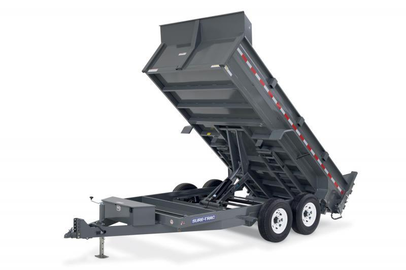 2020 Sure-Trac 82x14 14K HD Low Profile Dump (Scissor Hoist) Dump Trailer