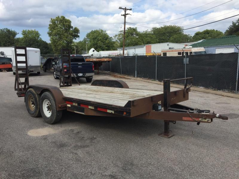 2004 Trailmaster 14+2 Flatbed Trailer