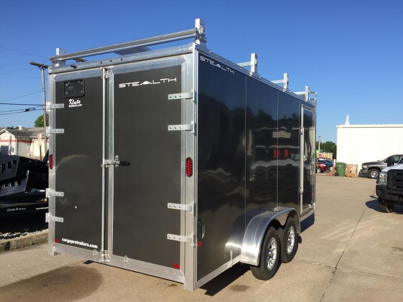 2019 Alcom-Stealth 7X16 Contractor Enclosed Cargo Trailer