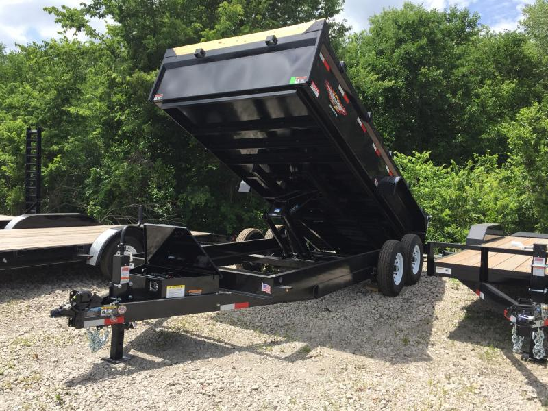 2019 H and H Trailer 83X16 DBW DUMP BOX 14K