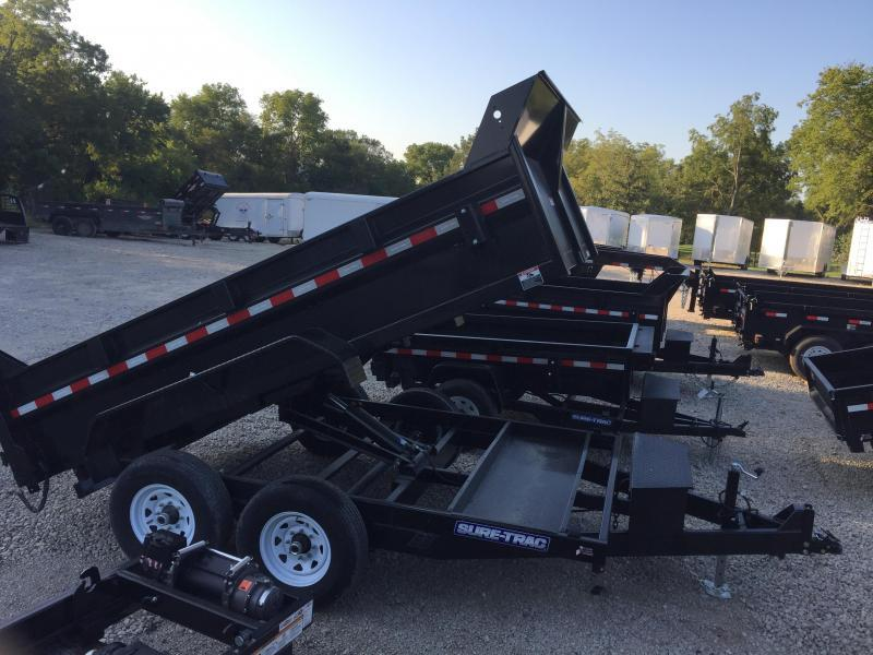 2020 Sure-Trac 82x12 12K HD Low Profile Dump (Scissor Hoist) Dump Trailer