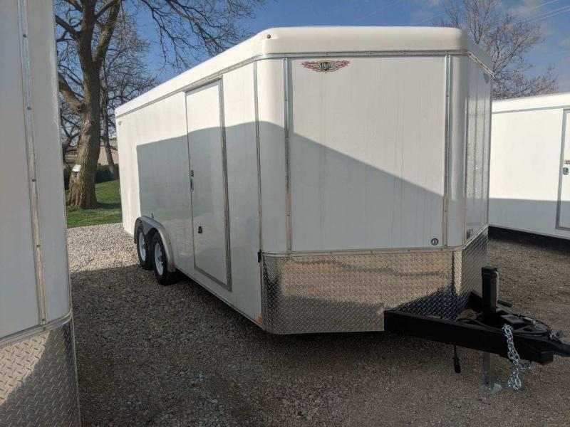 2020 H and H Trailer 8X18 TANDEM RND TOP HH VNOSE 10K CARGO