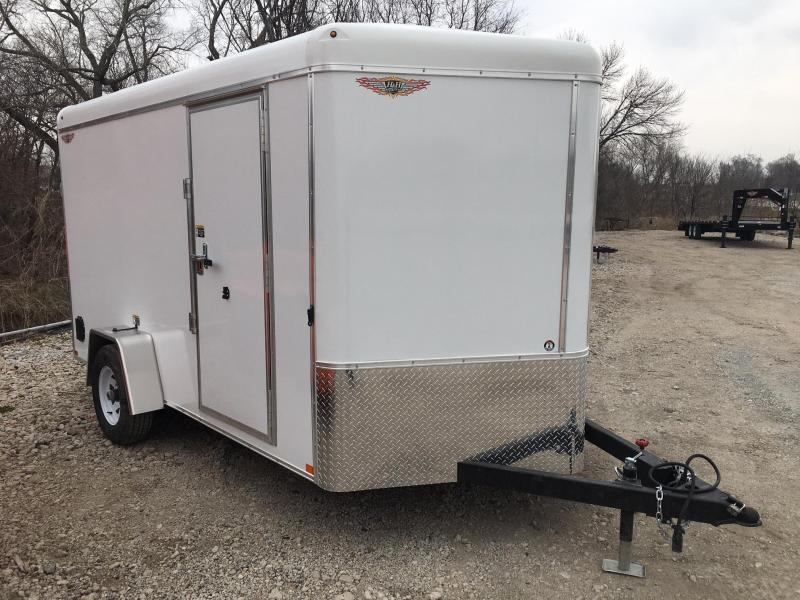 2020 H and H Trailer 7X12 SINGLE RND TOP HH V-NOSE 5K CARGO
