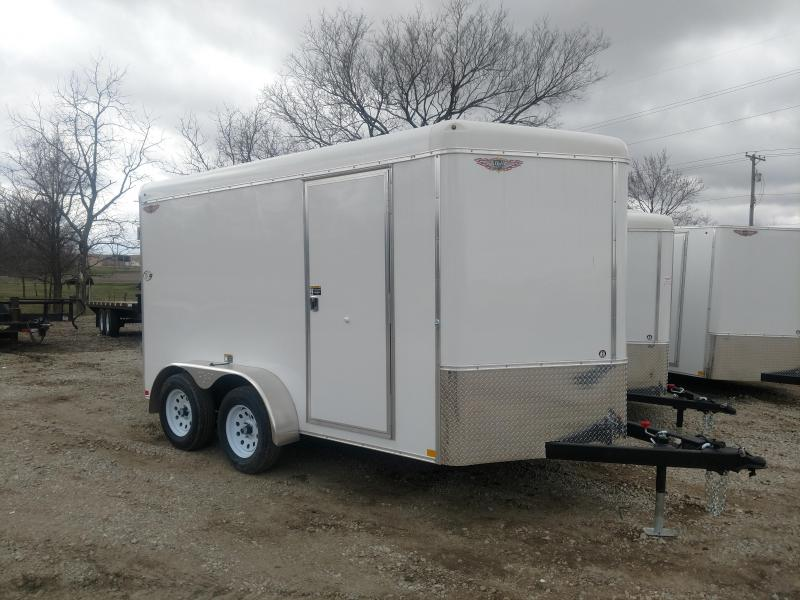 2019 H and H Trailer 7X12 TANDEM RND TOP CA VNOSE CARGO