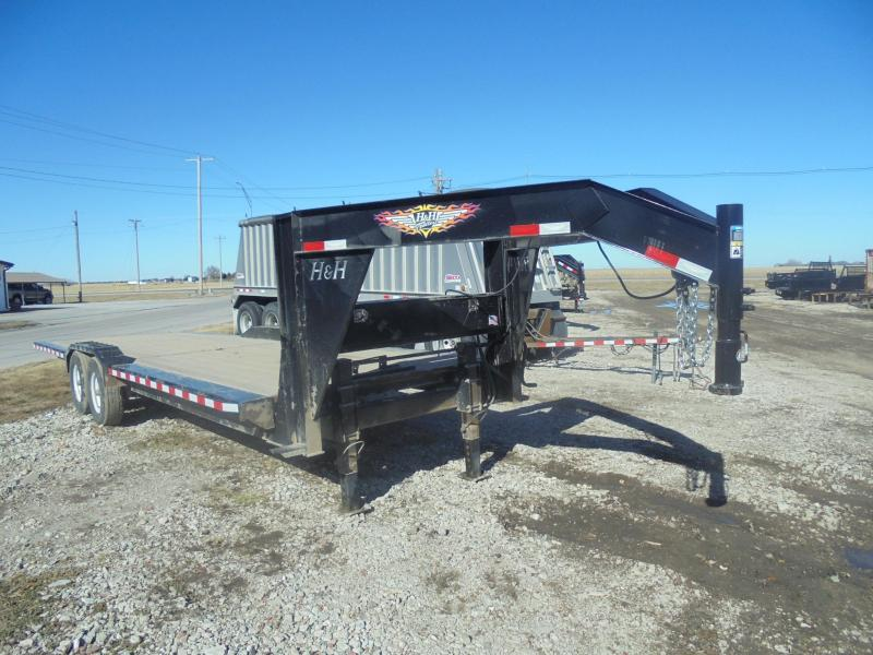 2017 H & H Trailers 26' GN EX SPEEDLOADER Equipment Trailer