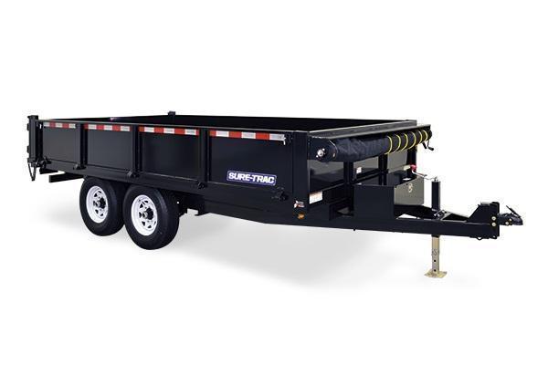 2020 Sure-Trac 96x14 HD Deckover Dump w/Fold-Down Sides Dump Trailer