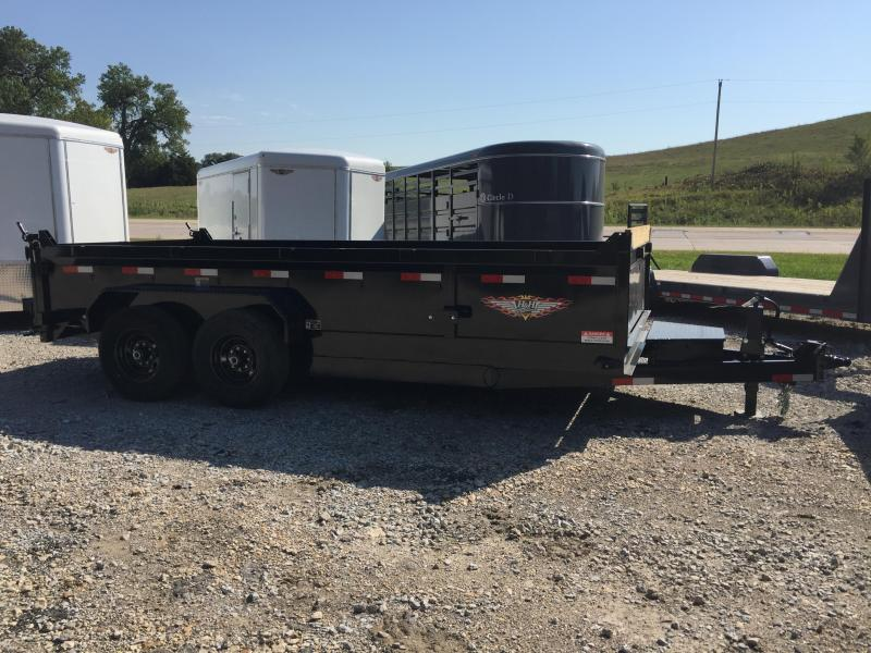 2020 H and H Trailer 83X16 DBW DUMP BOX 14K
