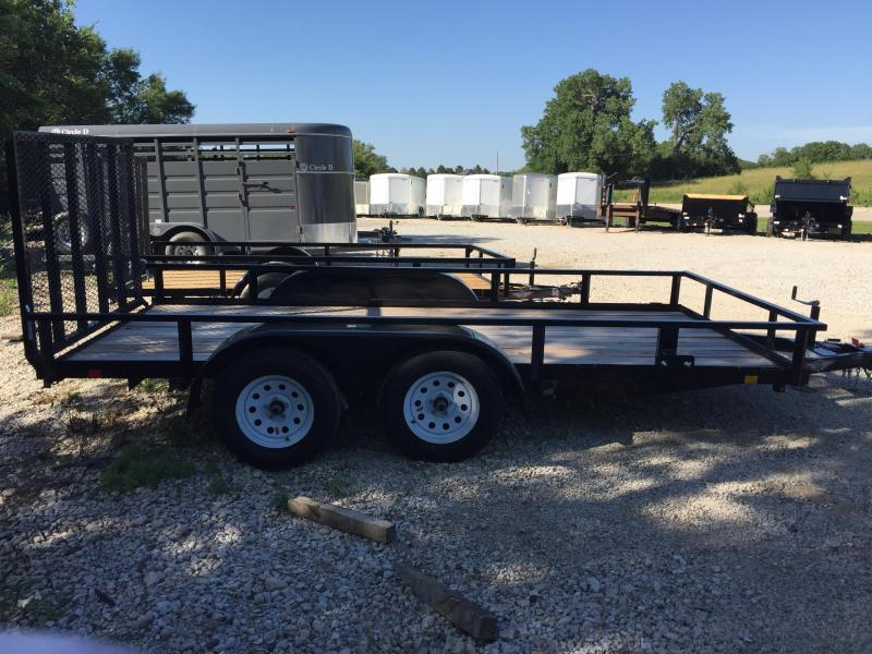 2019 H and H Trailer 76X14 STL RAIL SIDE TANDEM 7K