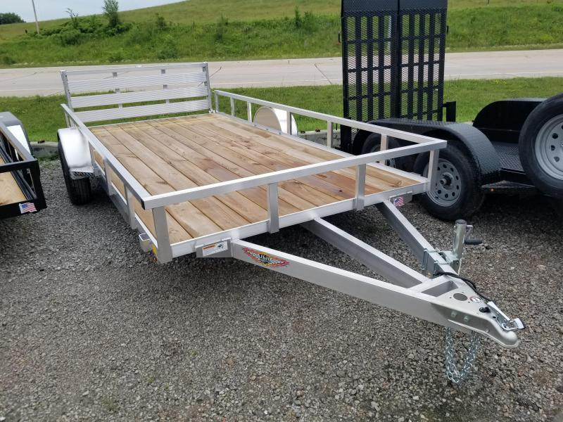 2019 H and H Trailer 8.5(82)X14 RAILSIDE ALUM 3K
