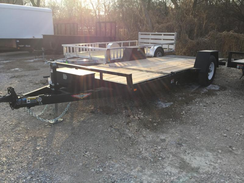 2019 H and H Trailer 78X12+4 GRAVITY TILT SINGLE AXLE 7.8K