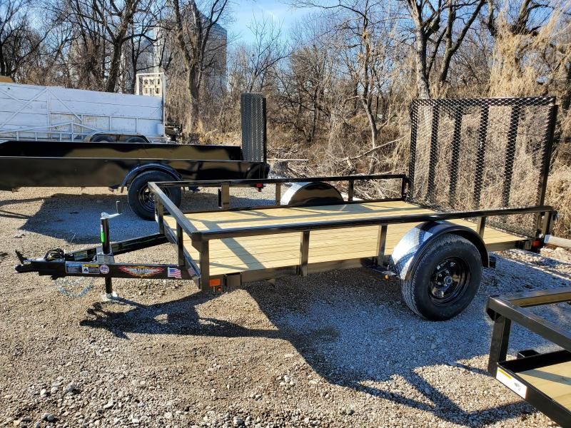 2020 H and H Trailer 76X10 STEEL RAIL SIDE 3.5K