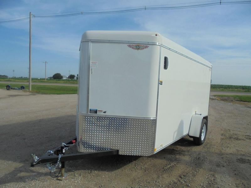 2019 H and H Trailer 6X12 SINGLE RND TOP HH V-NOSE 3.5K CARGO
