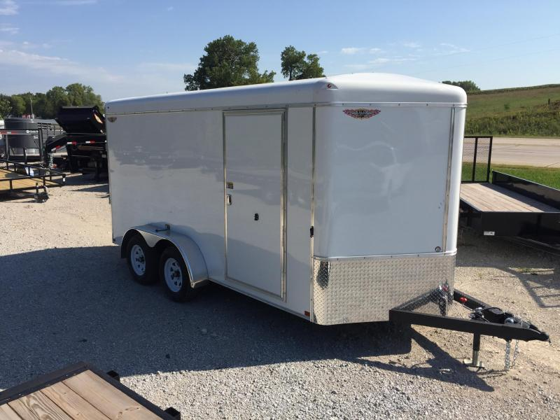 2020 H and H Trailer 7X14 TANDEM RND TOP HH VNOSE 7K CARGO
