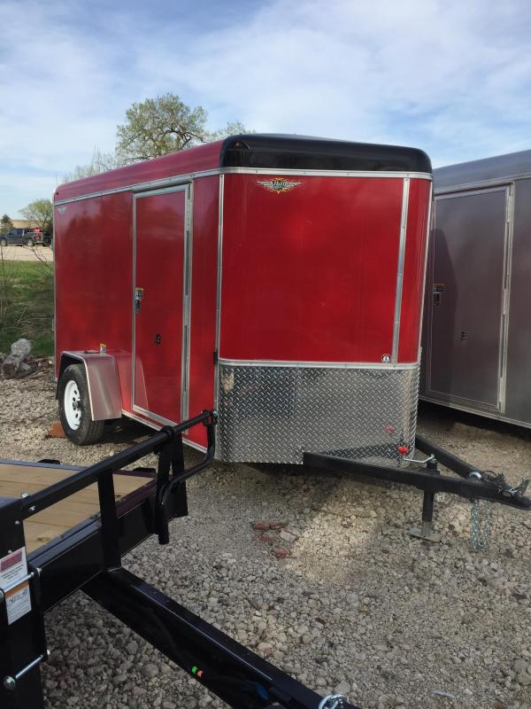2019 H and H Trailer 6X10 SINGLE RND TOP HH V-NOSE 3.5K CARGO