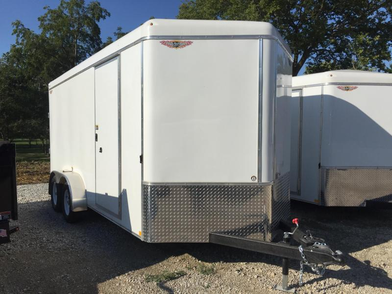 2020 H and H Trailer 7X16 TANDEM RND TOP HH VNOSE 7K CARGO
