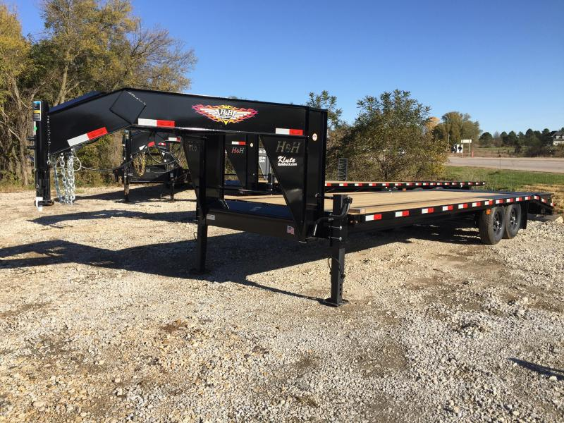 2020 H and H Trailer 20+5 14LB GN LP 14K DECKOVER SUPER DLX