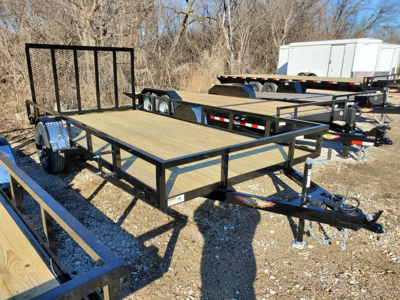 2020 H and H Trailer 82X14 STEEL RAIL SIDE 5K