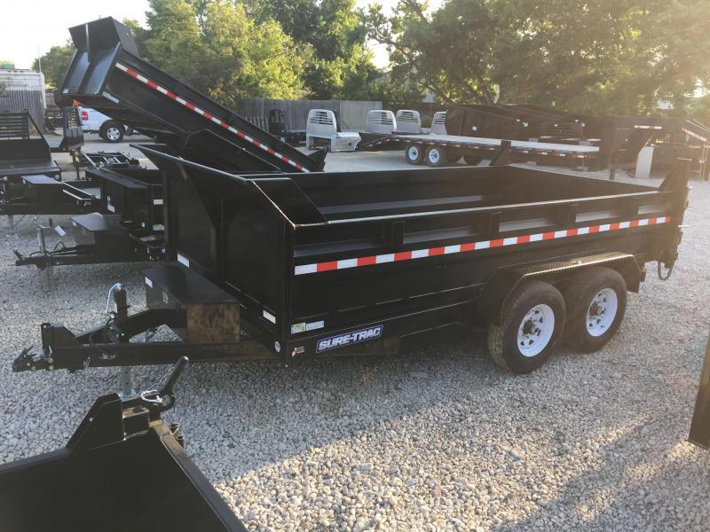 2020 Sure-Trac 82x14 14K HD Low Profile Dump (Dual Ram) Dump Trailer