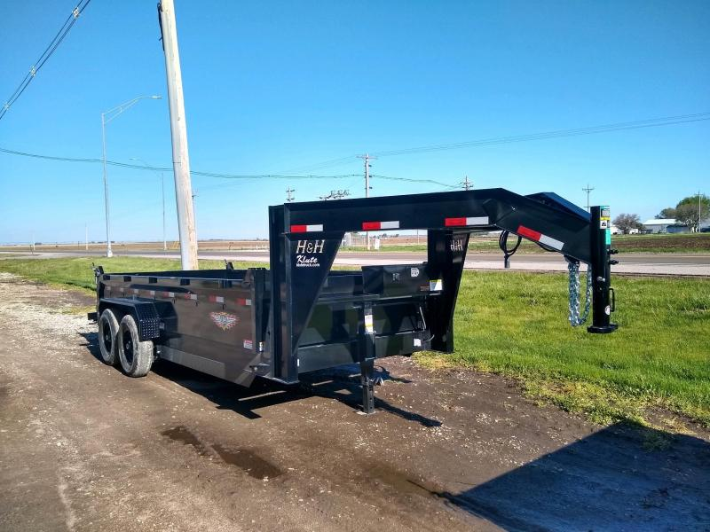 2020 H and H Trailer 83X16 DBW GN DUMP BOX 14K