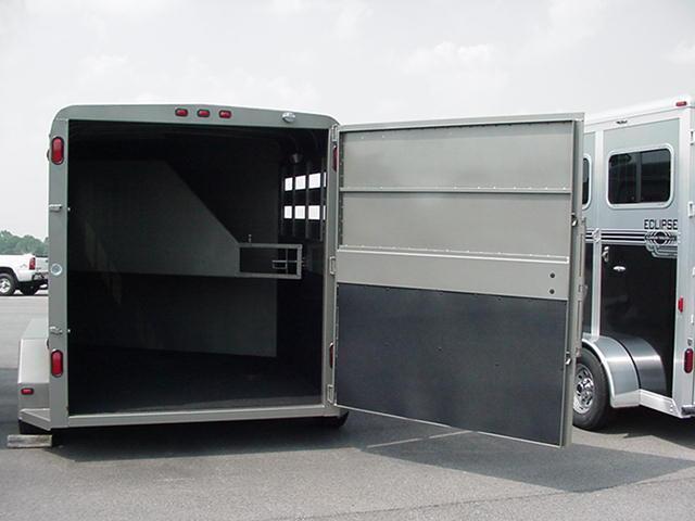 "CornPro 2H Slant Enclosed Horse Trailer 14' x 6'8"" x7' tall"