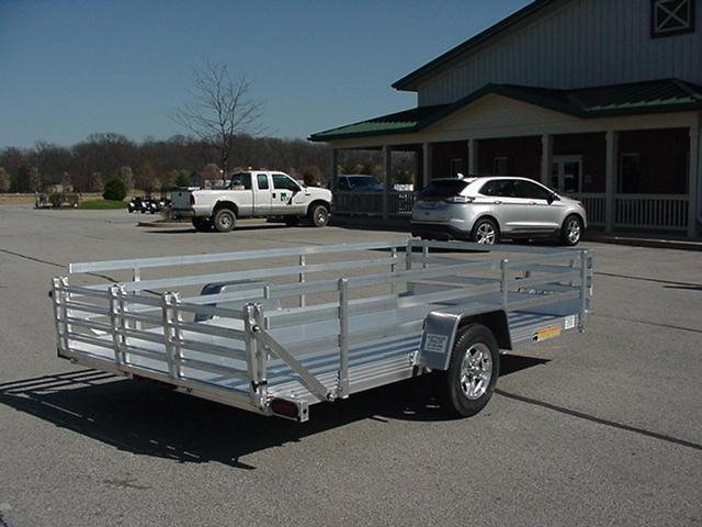 "Bear Track 82"" x 10' Aluminum w/  Bi-Fold Ramp and 24"" 3 Rail Sides"