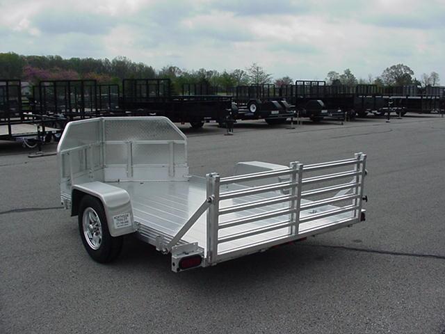 Bear Track Aluminum 65 x 10 SA V Nose Motorcycle w/ Rockguard