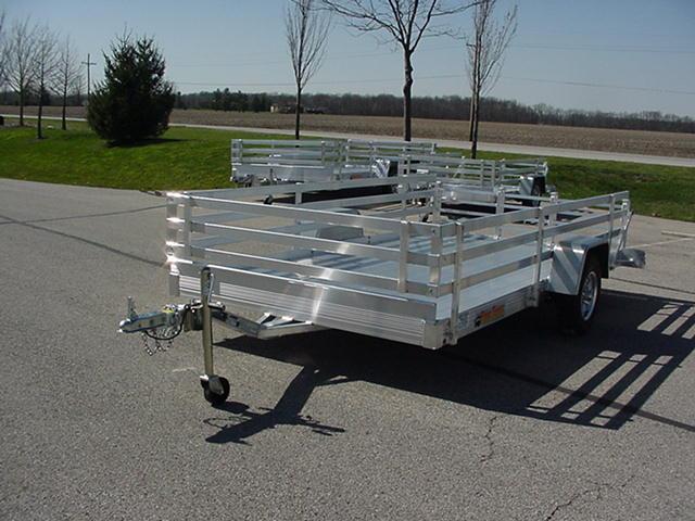 "Bear Track 82"" x 12' Aluminum w/  Bi-Fold Ramp and 24"" 3 Rail Sides"