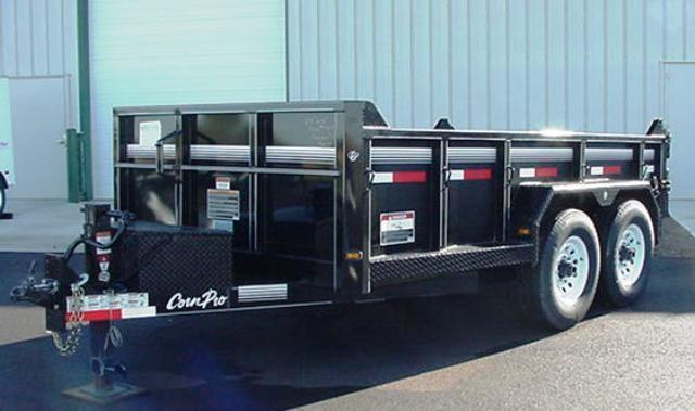 """CornPro  6'9"""" x 16'  14K Low Profile Dump w/ Ramps Rub Rail Stake Pockets"""