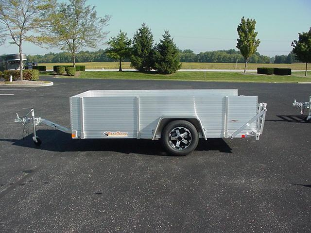 """Bear Track  65 x 10 SA Aluminum W/ BiFold Ramp & 24"""" High Solid Sides and Front"""