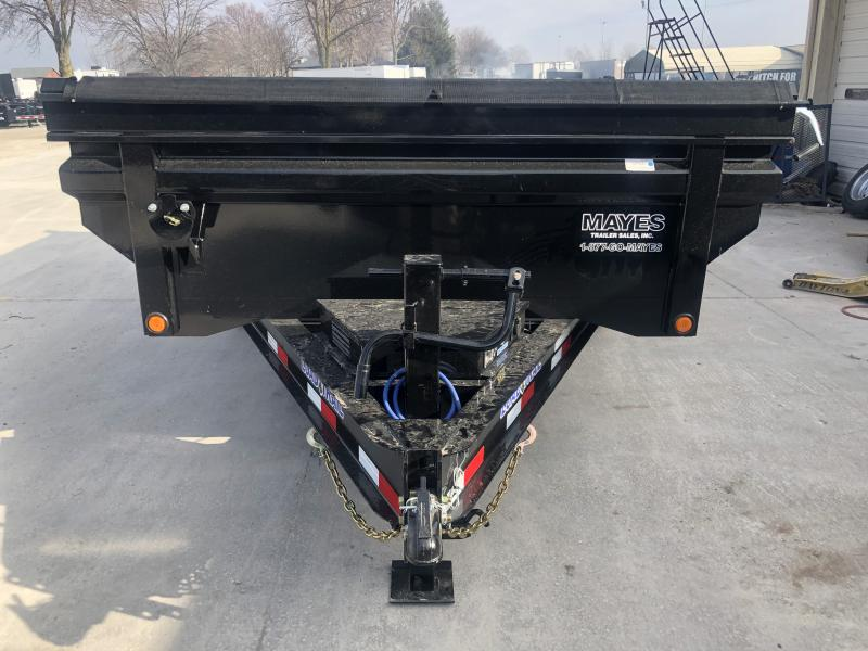 2020 83x14 TA Load Trail DT8314072 Dump Trailer - 24 Inch MAX Bed - 3-Way Gate - Rear Slide In Ramps - Scissor Hoist (GVW:  14000) *Max Bed*