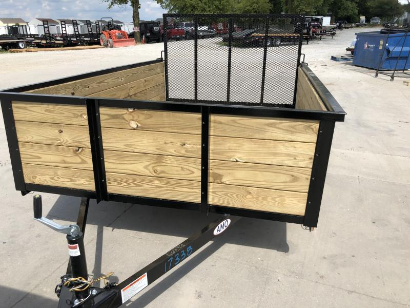 2020 76x10 SA American Manufacturing Operations (AMO) US101 Utility Trailer - High Sides - Tailgate (GVW:  2990)