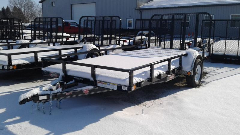 2020 83x14 PJ Trailers U8 Utility Trailer - Straight Deck w/ 4' Fold-up Gate (GVW: 2995)