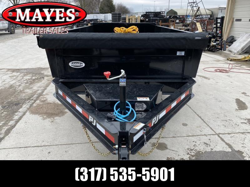 2020 83x14 TA Low Pro PJ Trailers DL142 Dump Trailer - Tarp Kit - Split/Spread Gate - Spare Tire MOUNT ONLY (GVW:  14000)