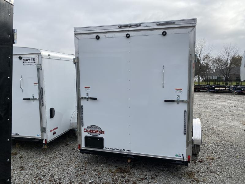 2020 6.5x12 SA Cargo Mate EHW612SA Enclosed Cargo Trailer - 6.5 Wide Body - Ramp Door - Side by Side Pkg. - D-Rings - 12 Inch Additional Height (GVW:  2990)