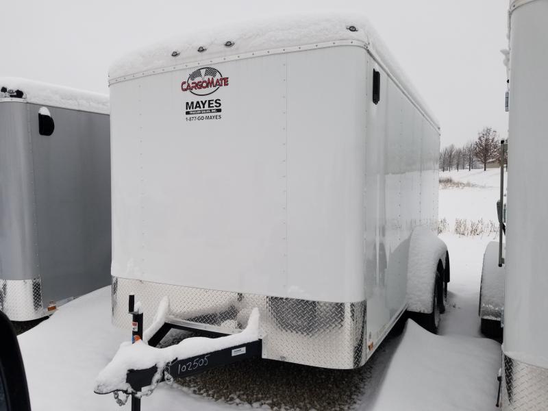 2020 7x14 TA Cargo Mate BL714TA2 Enclosed Cargo Trailer - White(RD)(GVW:  7000)