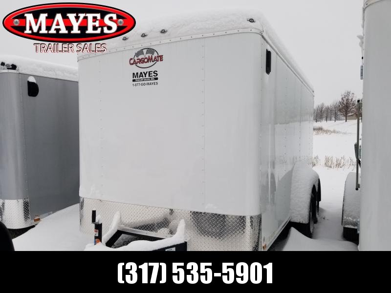 2020 7x14 TA Cargo Mate BL714TA2 Enclosed Cargo Trailer - White(RD)(GVW:  7000)