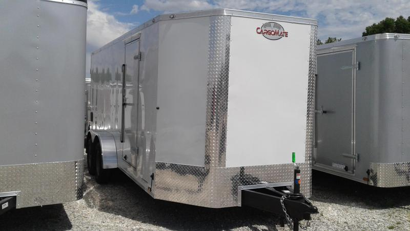 2020 7x16 TA Cargo Mate EHW716TA2 Enclosed Cargo Trailer - Double Door - Tapered Front (GVW:  7000)
