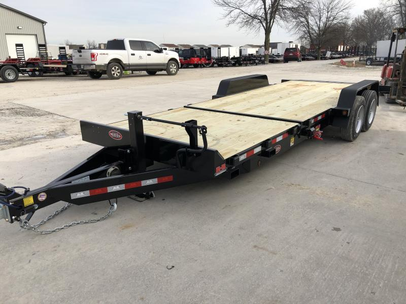 2020 83x22 (6+16) TA B-B TBCT2216ET Equipment Tilt Trailer - Cushioned Cylinder - Pallet Fork Holders - Chain Tray (GVW:  16000)
