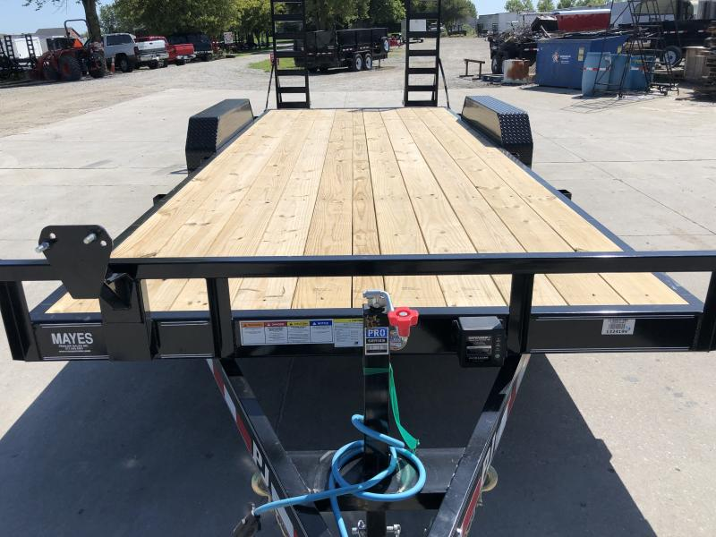 2020 83x20 PJ Trailers CE202 Equipment Trailer - w/ 5ft Fold-up Ramps (GVW: 9899)