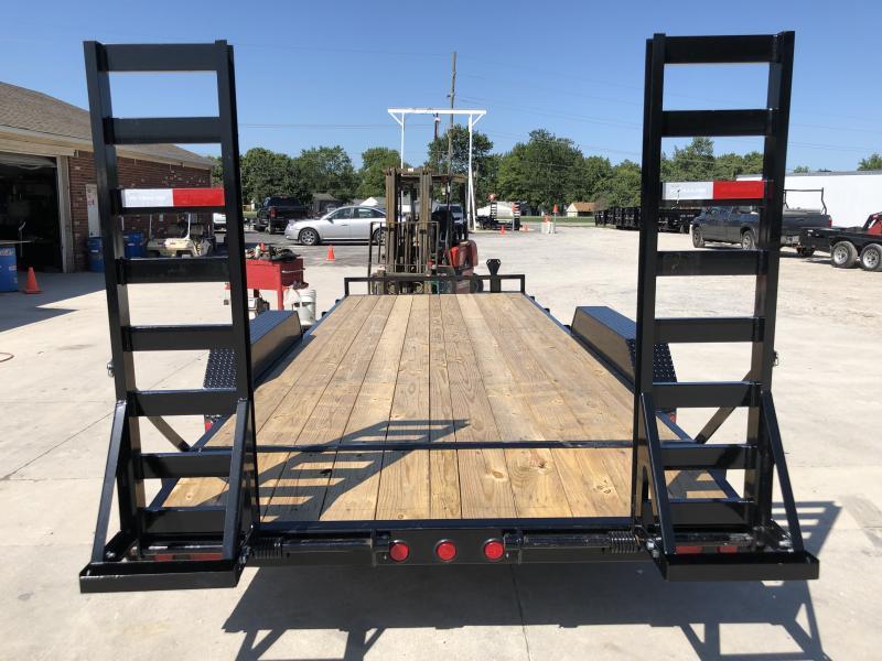 2020 83x20 PJ Trailers CE202 Equipment Trailer - w/ 5ft Fold-up Ramps (GVW: 9899)