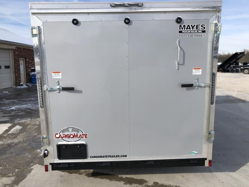 2020 7x14 TA Cargo Mate EHW714TA2 Enclosed Cargo Trailer - Ramp Door - Sloped Roof (GVW:  7000)