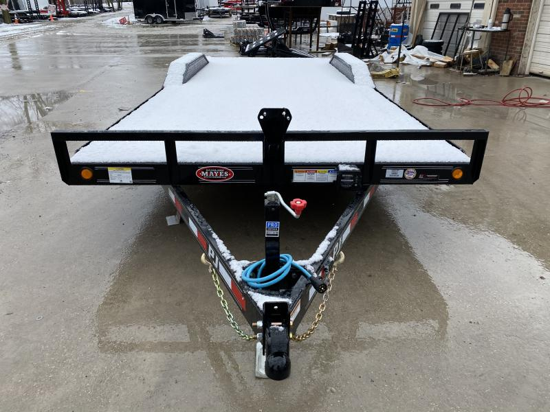 2020 102x22 (20+2) TA PJ B5222 Buggy Hauler Trailer - Dovetail - Rear Slide In Ramps (GVW:  9899)