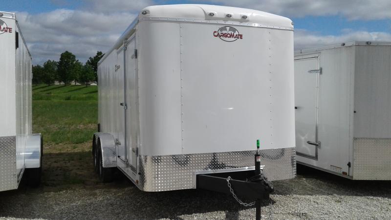 2020 7x16 TA Cargo Mate BL716TA2 Enclosed Cargo Trailer - Ramp Door - Spray Floor - 60
