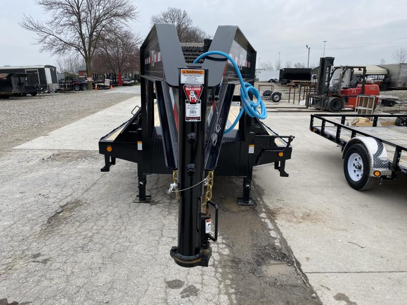 2020 102x30 (25+5) TA Low Pro Flatdeck Gooseneck PJ Trailers LD302 Equipment Trailer - With Duals - Dovetail - Monster Ramps (GVW:  25000)