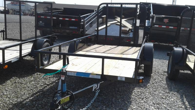 2020 60x10 SA PJ Trailers E6101 Utility Trailer - Straight Deck - 4 Foot Fold Up Gate (GVW:  2995)
